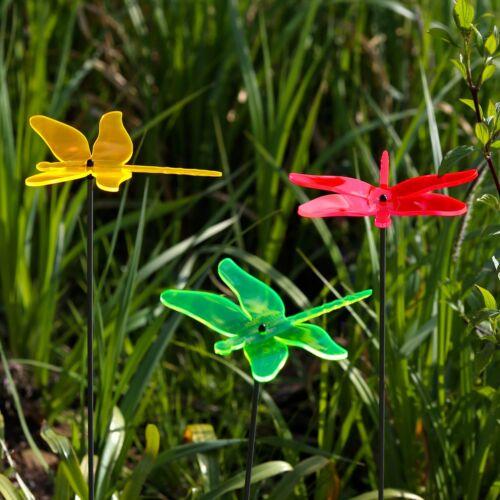 Acrylglas Sonnenfänger Libelle 14cm neon transparent fluoreszierend