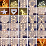 LED Light UP White Wooden Letters Free Standing Hanging Wedding Christmas Decor
