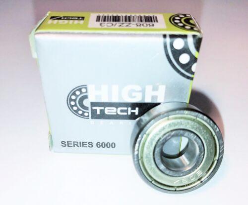 608-2Z//C3 8x22x7 mm. Deep Groove Ball Bearing