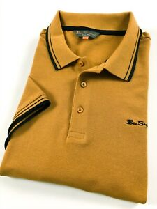 Ben-SHERMAN-POLO-SHIRT-MEN-039-S-CLASSIC-FIT-Oro-Tre-Bottoni-0062104