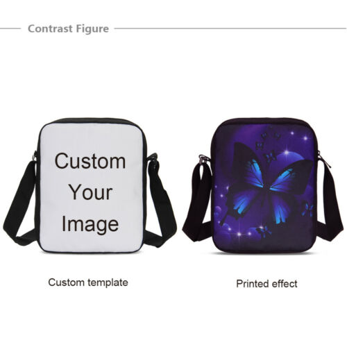 Custom Personalized Pet Family Photo Messenger Bags School Crossbody Purse Gifts