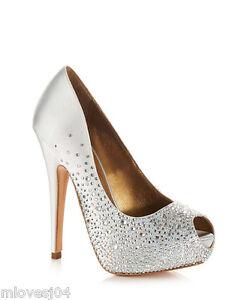 7305da1d7cf9e Image is loading Benjamin-Adams-Salvador-Crystal-Shoes-Wedding-Bridal-Heels-