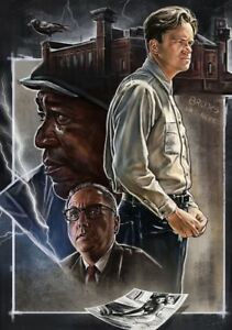 SHAWSHANK-REDEMPTION-Movie-PHOTO-Print-POSTER-Textless-Film-Art-Tim-Robbins-003