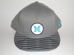 Hurley New Era 9Forty OPEN FUSE Hat Blue Grey OSFA ( 32) Snapback ... 08b48bc39b9