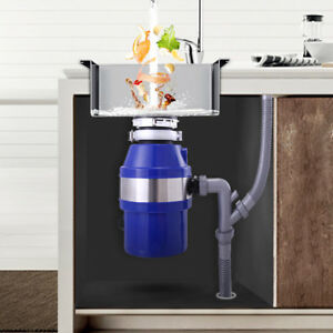 Details about 1/2 HP Garbage Disposal Continuous Food Feed Kitchen Waste  with Plug Blue