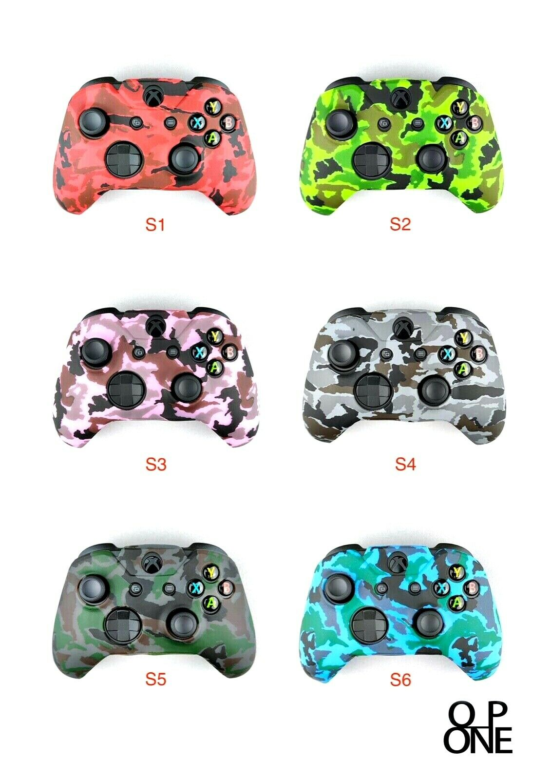 Xbox Silicone Skin Camouflage Cover Case For Xbox One / S Controller