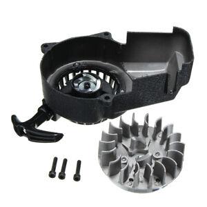 Pull-Start-Pullstarter-amp-Flywheel-2-Stroke-47cc-49cc-Mini-Moto-Scooter-Quad-ATV