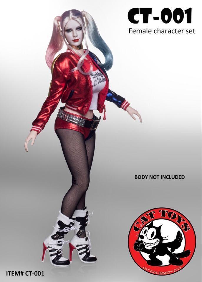 1 6 Cat Cat Cat Toys CT-001 Suicide Squad Harley Quinn Female Character Accessory SET 8b9e6c
