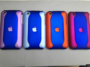 SOFT-TOUCH-2-PIECE-PLASTIC-BACK-CASE-COVER-FOR-APPLE-iPHONE-3-3GS-BLUES
