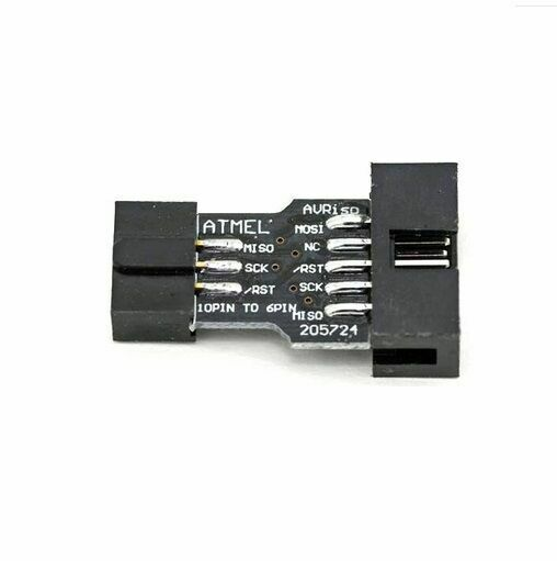 10PCS 10 Pin Convert to 6 Pin Adapter Board For ATMEL AVRISP USBASP STK500