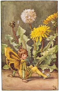The-Dandelion-Fairy-Cicely-Mary-Barker-c-1918-Archival-Quality-Art-Print