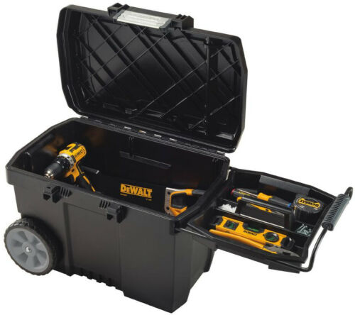 Dewalt Large Mobile Tool Box Storage Organizer 25in Rolling Case Water Resistant