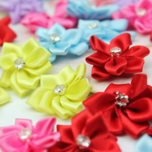 40pcs-Mini-Satin-Ribbon-Flowers-Bows-Gift-DIY-Craft-Wedding-Decoration