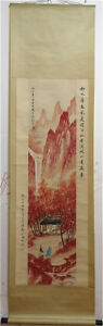 Excellent-Chinese-100-Hand-Painting-amp-Scroll-Landscape-By-Fu-Baoshi-AL920F