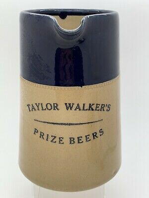 Very Scarce Old Taylor Walker S Beers London Stoneware Pub Water Jug Advertising Ebay