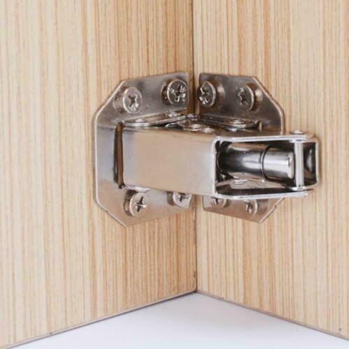 2Pcs 90 Degree Easy Mount Concealed Kitchen Cabinet Cupboard Sprung Door Hi U3T9