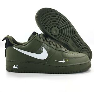 Details about Nike Air Force 1 '07 LV8 Utility Low Olive Green White AJ7747 300 Men's 13