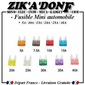 Fusible-Mini-automobile-5A-10A-15A-20A-25A-30A-par-lot-de-2-ou-5