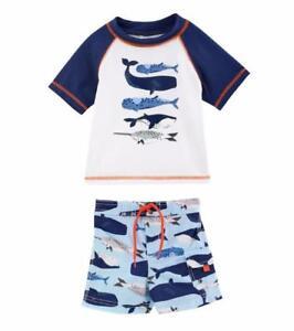 60ecddf85f CARTER'S Baby Boys 18M Whale Rashguard 2-Piece Swim Set NWT   eBay