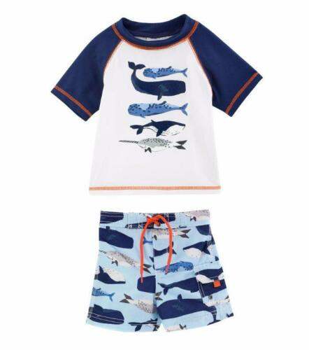CARTER/'S Baby Boys 18M Whale Rashguard 2-Piece Swim Set NWT