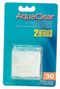 Hagen-AQUACLEAR-30-POWER-FILTER-NYLON-FILTER-MEDIA-BAGS-Aquarium-Fish-2-pAK