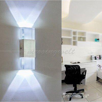2W LED Transparent Wandlampe Wandleuchte Wandleuchten Leuchte Strahler weiß DHL