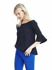nwt BANANA REPUBLIC off shoulder bell sleeve top sweater blouse shirt S blue