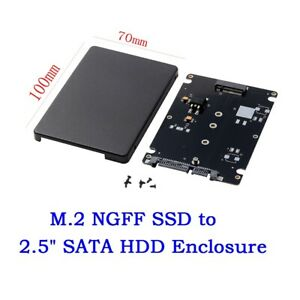 M-2-SSD-NGFF-B-Key-to-2-5-034-SATA-7mm-HDD-Enclosure-Case-Converter-Adapter-black