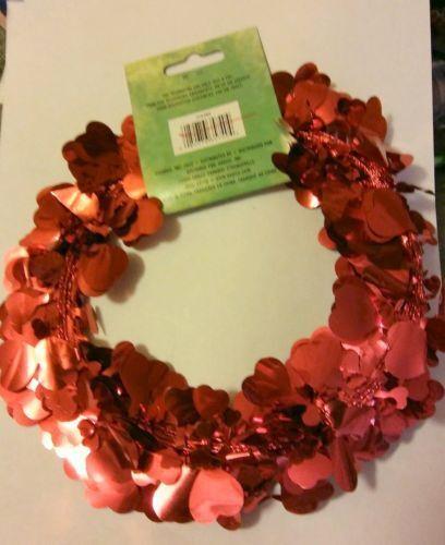 25 Foot Long Valentines Foil Heart Garland  B85*