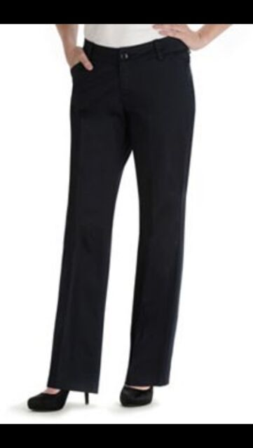 2d214187 Lee Women's Pants Curvy Fit Navy BlueTrouser Stretch Casual Size 4P X 29 NWT
