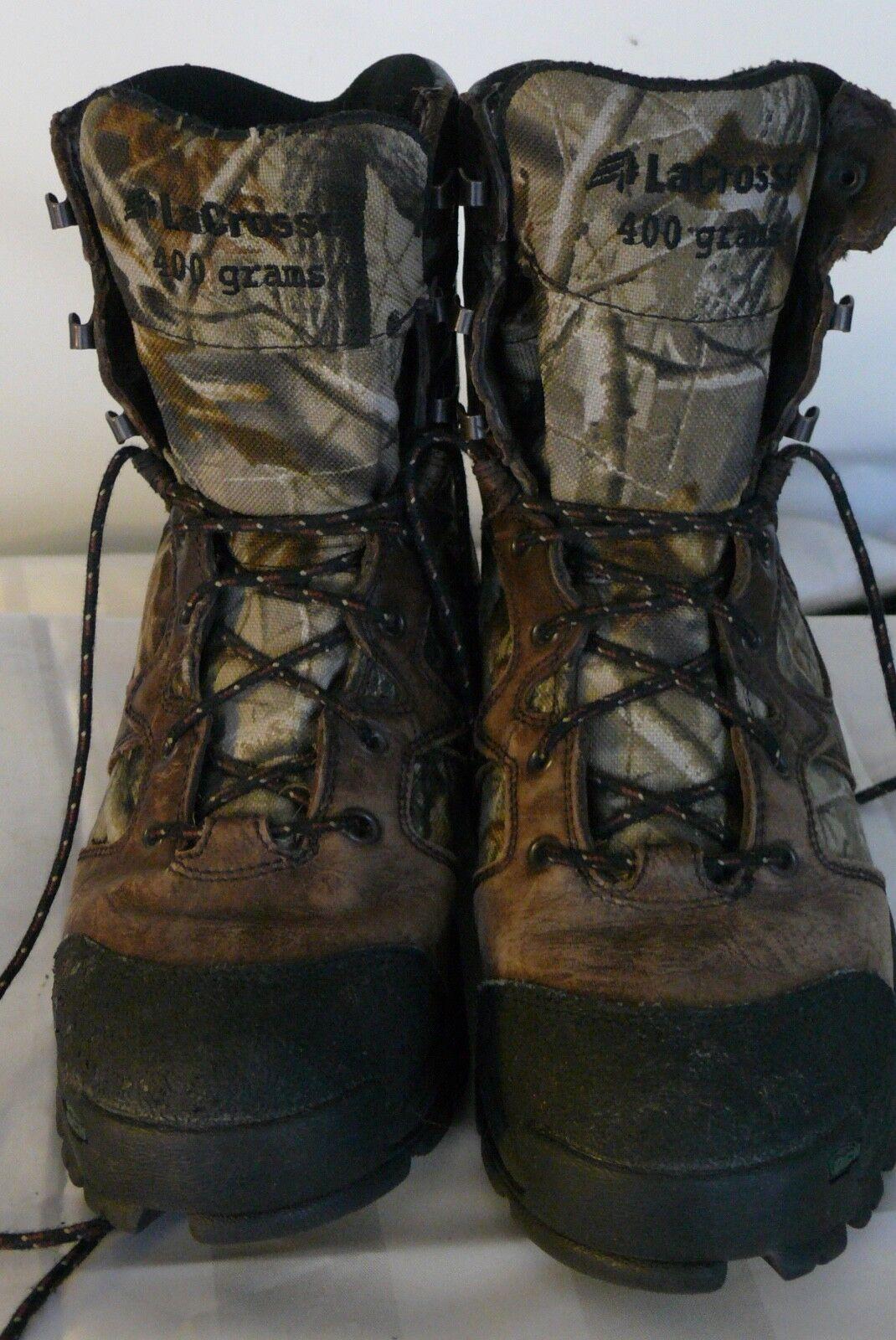 Lacrosse 400 Hunting Insulated Gortex Stivali Uomo Size 7 Road Trip