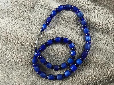 Small Round Trade Beads Blue Czech Africa