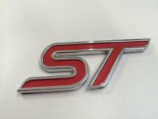 NEW Ford 3d ST RED LOGO Boot and grill Badge Fiesta Focus Mondeo Zetec Emblem