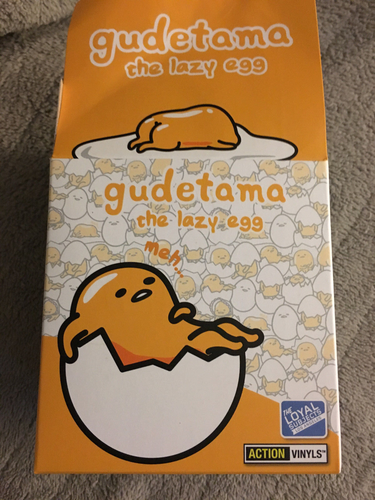Gudetama the the Gudetama Lazy Egg Loyal Subjects Action Vinyl Figure New Complete set of 3 75c60a