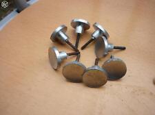 8 boutons de tiroirs pour meuble industriel ou de métier en alu