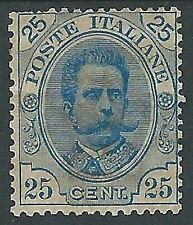 1891-96 REGNO UMBERTO I 25 CENT MH * - Y139