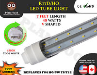 R17d 7 Feet 48w V Shaped Led Tube Light Fluorescent Replacement For F84t12/cw/ho
