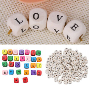 100Pcs-Mixed-Alphabet-Letter-Square-Wooden-Spacer-Beads-Craft-DIY