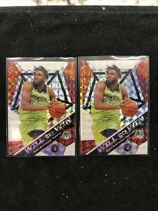 2019-Panini-Mosaic-Lot-2-2-Karl-Anthony-Towns-Mosaic-Prizm-Will-To-Win-OBO
