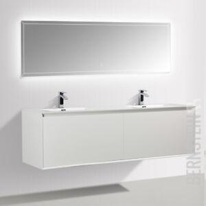 Badmöbel Set Freya 1900 Weiß glänzend mit LED Beleuchtung | eBay