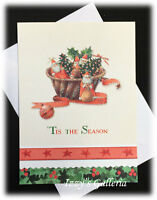 Vintage Hallmark Marjolein Bastin Nature's Tis The Season Christmas Note Card