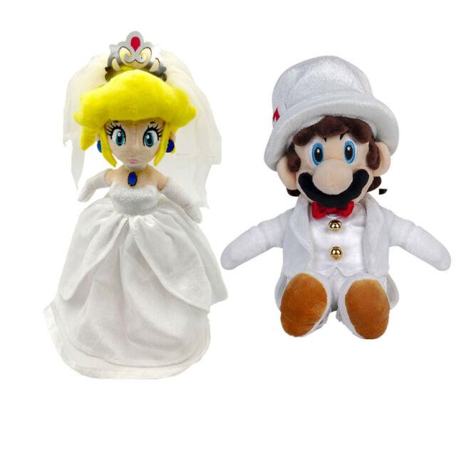 2pcs Super Mario Bros Princess Peach Bowser King Koopa