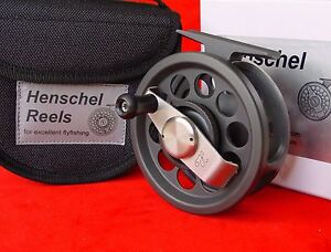 HENSCHEL-ANTI-REVERSE-Black-amp-Silver-1-line-5-6-TROUT-fly-reel