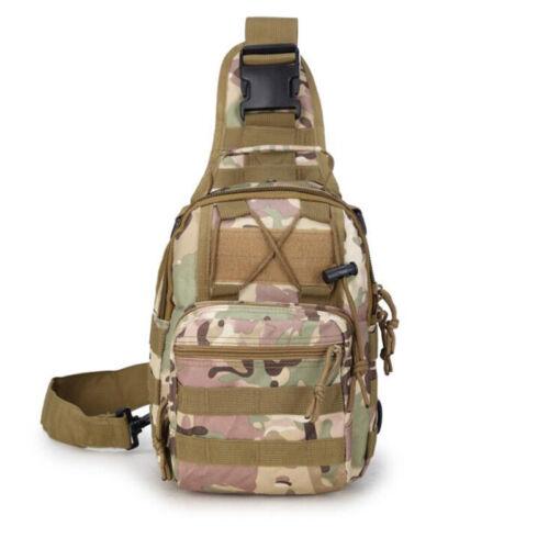 10L Waterproof Mens Military Tactical Crossbody Shoulder Bag Camping Travel Pack