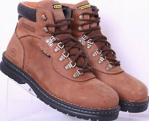 Stanley-NEW-F2413-05-Brown-EH-Steel-Toe-Work-Safety-Lace-Up-Boots-Men-039-s-US-10-W