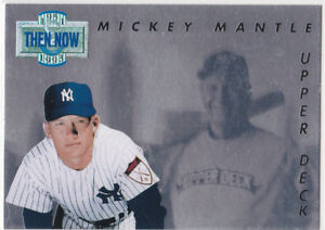 Details About Mickey Mantle Then Now Upper Deck Hologram Insert Baseball Card Ny Yankees