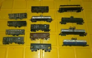 HO-SCALE-MODEL-TRAIN-Lot-13-Boxcar-Tanker-Coal-Oil-Gas-Athearn-NYC