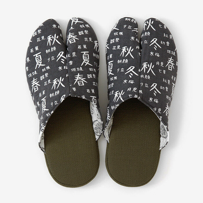 Tabi Slippers Ninjya SOU SOU KYOTO Room Schuhes Gray Japanese Traditional New