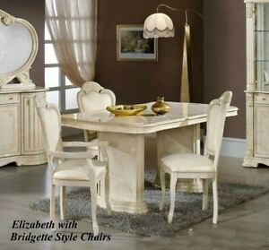 Image Is Loading Elizabeth Italian Beige Cream Dining Table And 6