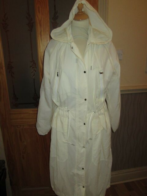 Next outerwear cream shower resistant lightweight coat size 12 brand new & tags